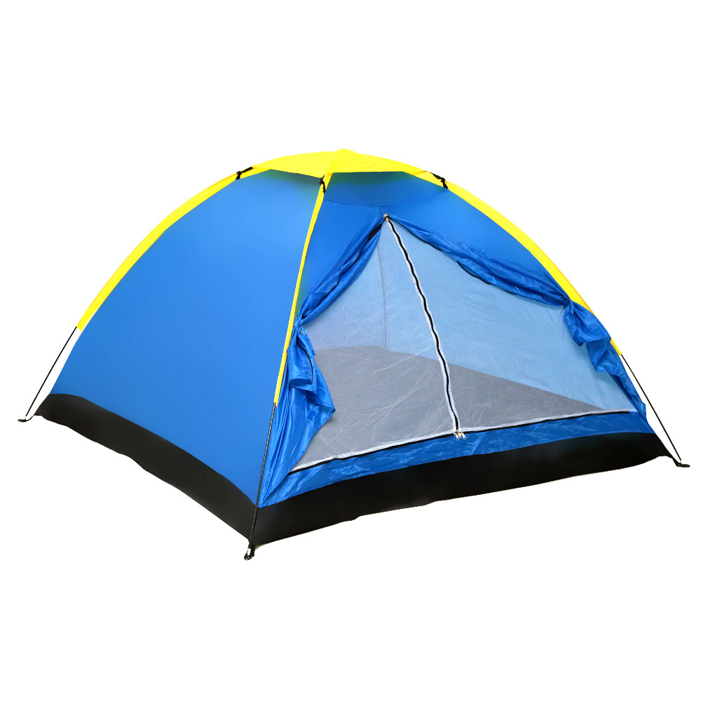 2 Persons 3 Person Tents Three Single Layer Blue Season Layers Tent Outdoor Travel Camping Tent with Bag(China (Mainland))