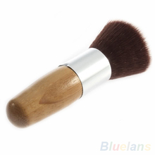 Flat Top Buffer Foundation Powder Brush Cosmetic Makeup Basic Tool Wooden Handle 1HOT