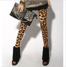 2015 HOT SELL WOMEN'S LEGGINGS TRENDY LEOPARD PRINTED WAS THIN ELASTIC NINE POINTS LEGGINGS(China (Mainland))