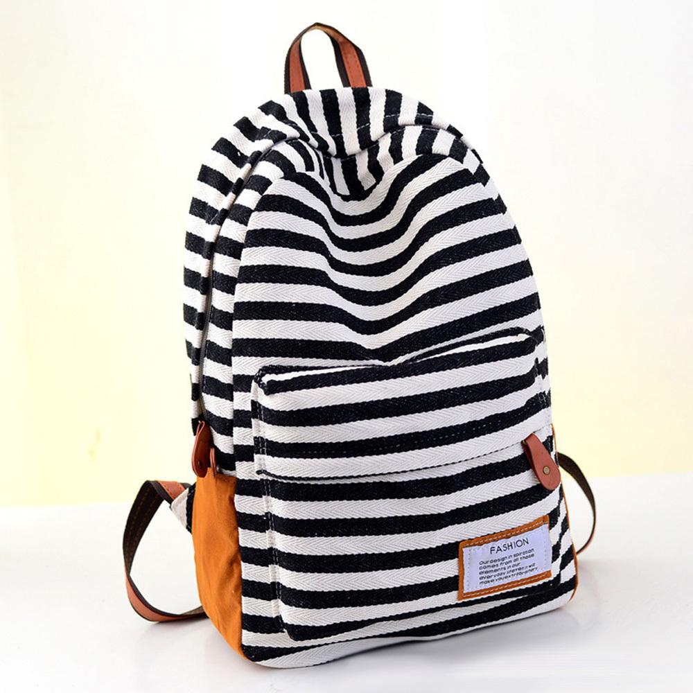 New arrival zebra stripe backpacks for school boys girls student shoulder bags travel sports rucksacks canvas laptop holder(China (Mainland))