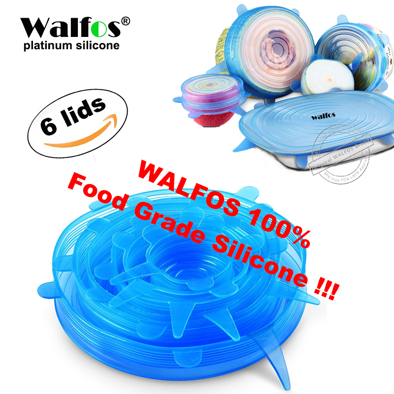 WALFOS universal lid Silicone saran food wrap-bowl pot lid-silicon stretch lids silicone cover pan Kitchen Vacuum Lid Sealer(China (Mainland))