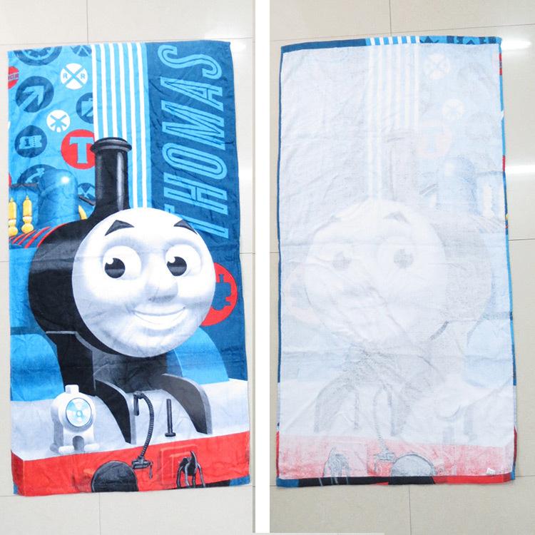Children 120*60CM Thomas Train Pattern Swimming Towel/Boys Cotton Bath Towel/Cartoon Printed Towels For Beach(China (Mainland))