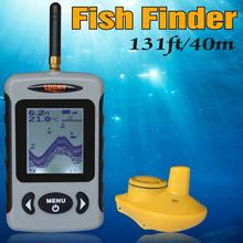 Wireless Russian Sonar Portable Fish Finder Sensor Echo Sounder Alarm River Lake Sea Bed Live Update Contour 131ft/40M(China (Mainland))