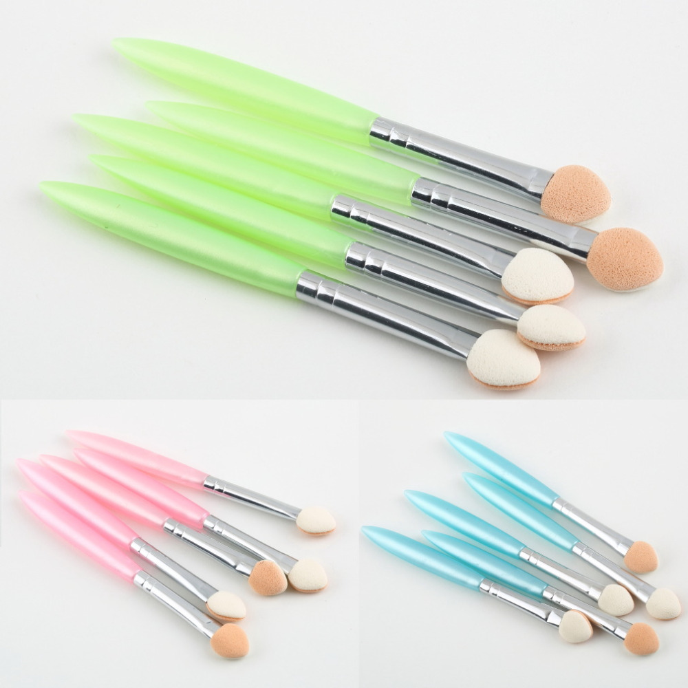 Гаджет  Hot Selling 1set 5 Pcs Beauty Makeup Cosmetics Eye Shadow Eyeliner Brush Sponge Applicator Tool None Красота и здоровье