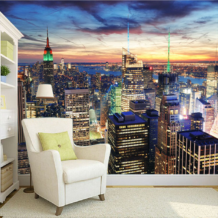 popular city wall murals buy cheap city wall murals lots. Black Bedroom Furniture Sets. Home Design Ideas