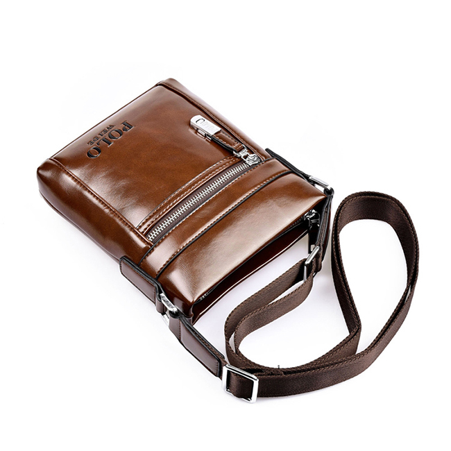 Polo Designer Brand Men s Cross body bags Vintage Style Oil Skin Leather shoulder Men Messenger