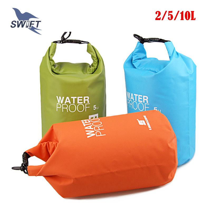 2L/5L/10L Ultralight PVC Waterproof Swimming Bag Beach Swimsuit Bikini Dry Bag Snorkeling Diving Pool Float Superdry Stuff Sack(China (Mainland))