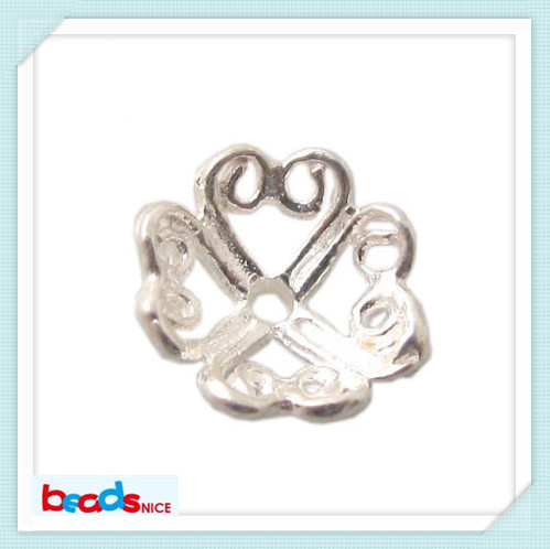 Beadsnice flower 925 silver end beads caps jewellery supplies wholesale beads caps in factory price ID24316(China (Mainland))