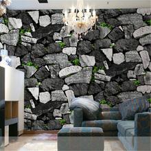 beibehang simulation stone pattern retro restaurant wallpaper hot pot restaurant tea waterproof PVC wallpaper works paper(China (Mainland))