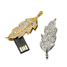 retail genuine 2G 4G 8G 16G 32G usb drive pen drive usb flash drive memory jewelry leaf pendant disk on key Free shipping