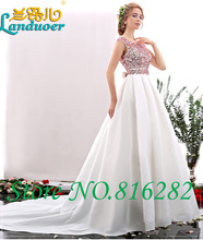 Long Prom Dresses 2015 Ball Gown Scoop Cap Sleeve Beading Floor Length Satin Modest Prom Dress With Bow Long Party Evening Dress(China (Mainland))