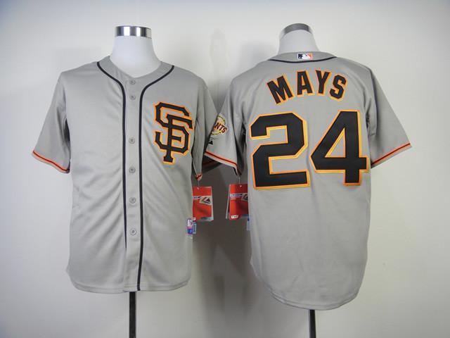 24 Willie Mays Jersey SF Jersey Embroidery Logo Sports Sportswear Baseball Jersey 951(China (Mainland))