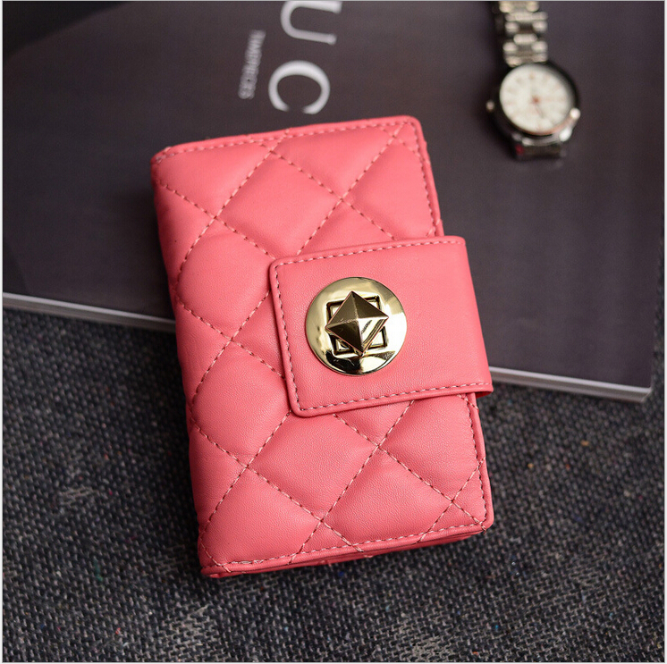 2015 New High-quality PU leather women Short Cowhide wallets designer brand womens wallets and purses Mini Wristlock Wallet<br><br>Aliexpress