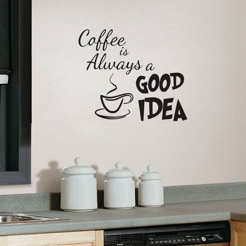 Muurstickers Keuken Koffie : Decal Coffee Is Always a Good Idea