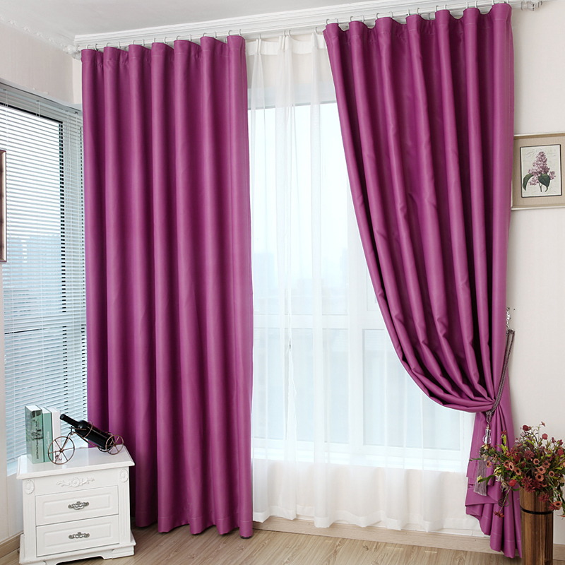 modern style curtains bedroom living room windows purple solid window  shading blackout shenzhen. Modern Bedroom Window Curtains  Window Treatments For Bedrooms