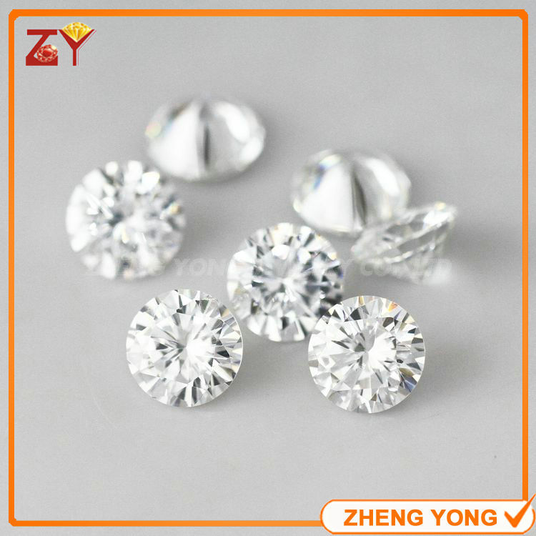 Hot sale 3.0mm White Cubic Zirconia Stone Round Cut Synthetic Gemstone Beads(China (Mainland))