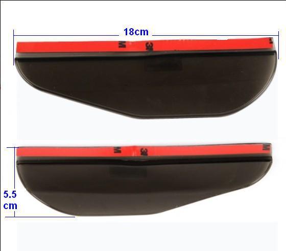 2Pcs Universal Flexible PVC Car Rearview Mirror Rain Shade Rainproof Blades car back mirror's eyebrow rain cover free shipping(China (Mainland))