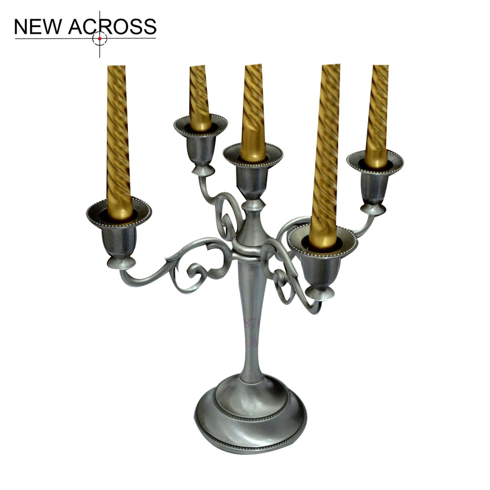 Gohide 1pcs Candle Holders Europe Latest Design Plate Metal Tin Home Supplies Candle Stand Candlestick Holder Home Decoration(China (Mainland))