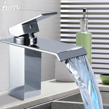 Buy hm Basin Faucets Waterfall Faucet Single Handle Basin Hot Cold Mixer Bathroom Tap Sink Chrome Finish Origin:guandong China for $69.36 in AliExpress store