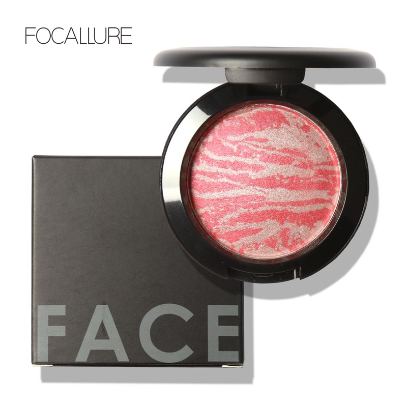 Top Quality Professional Cheek 6 Colors Makeup Baked Blush Bronzer Blusher With Brush by Focallure<br><br>Aliexpress