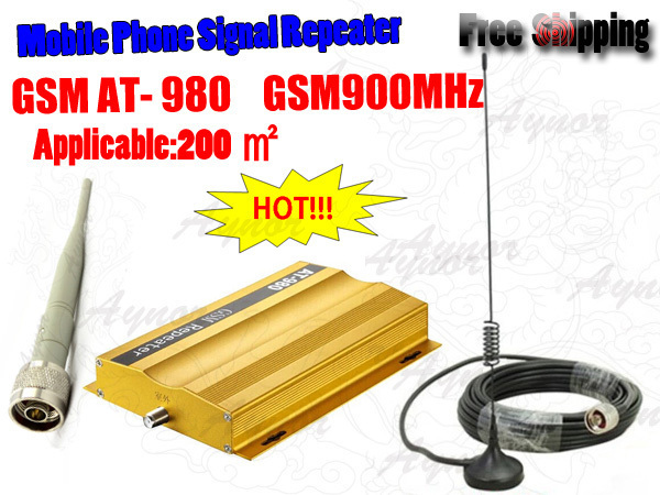 HOT!GSM Mobile Phone Signal Booster Repeater,900Mhz Cell Phone Signal Amplifier Receivers,Free shipping.(China (Mainland))