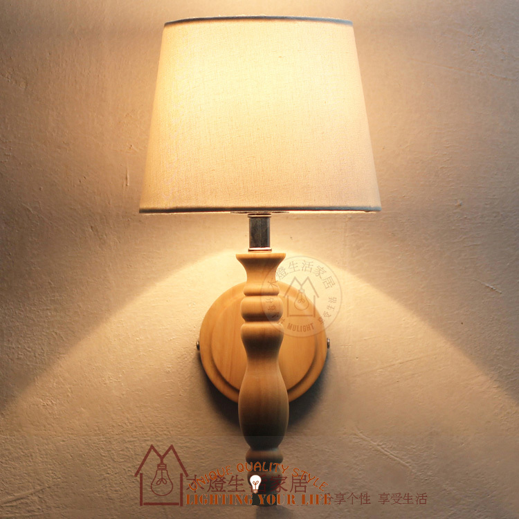 Home Decor Wooden Wall Lighting Medieval Modern American Wooden Lamp Style Wood Lamp Innovative