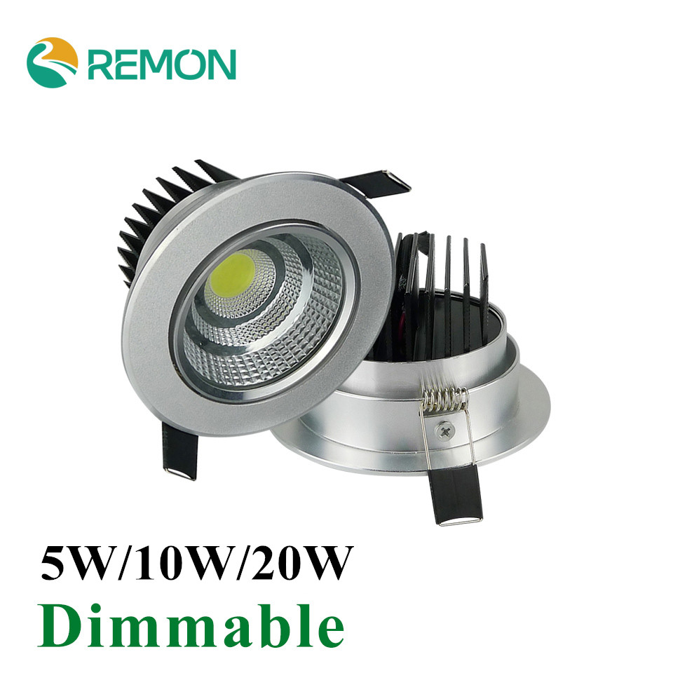 Dimmable LED COB Downlight Spot downlamp LED Light 5w 10w 20w Super Bright LED Recessed Ceiling Lamp 110V 220V(China (Mainland))