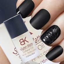 bk 15ML Magic Super Matte Transfiguration Nail Polish Top Coat Frosted Surface Oil(China (Mainland))