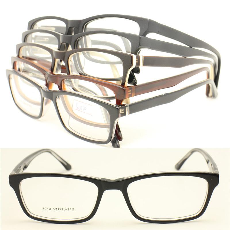 wholesales8010 unisex arder acetate plate simple flexi hinge many color to choose rectangle optical eyeglass frame free shipping(China (Mainland))