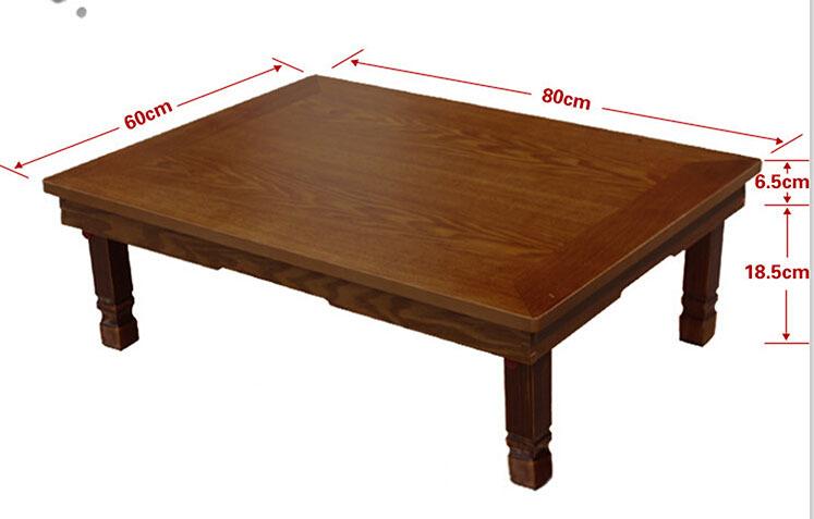 Korean Rectangletable 80 60cm Folding Legs Home Furniture Living Room Antique Table For Dining
