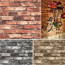 #6021-PVC Vinyl Vintage Shabby Brick Stone 3D Wallpaper Living room,TV background,Home Decoration,0.53*10/roll(China (Mainland))