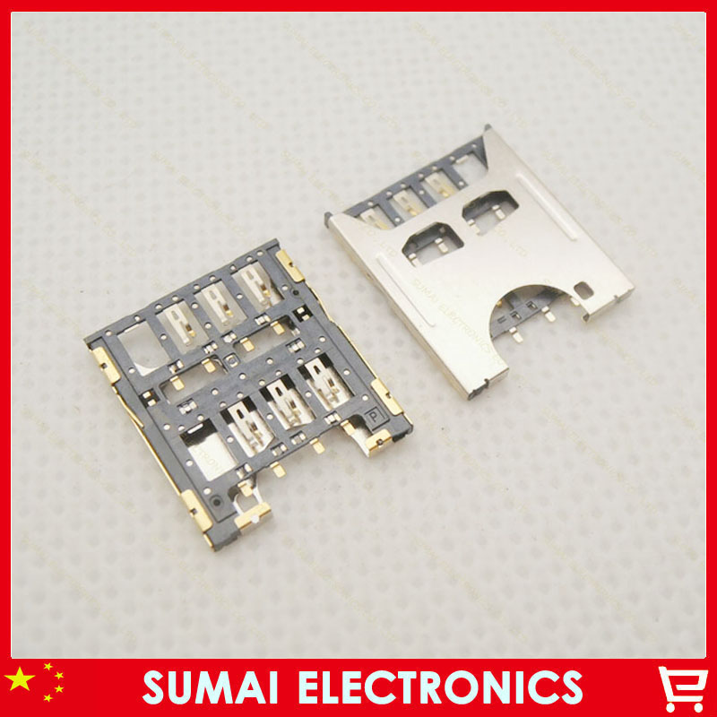 50pcs/lot Sim Card Reader Holder Slot For Gionee V188 V188S etc
