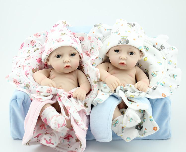 """12"""" brinquedos silicone reborn baby dolls Reborn Baby Dolls lifelike Newborn Baby Silicone Vinyl Dolls reborn boy and girl doll(China (Mainland))"""