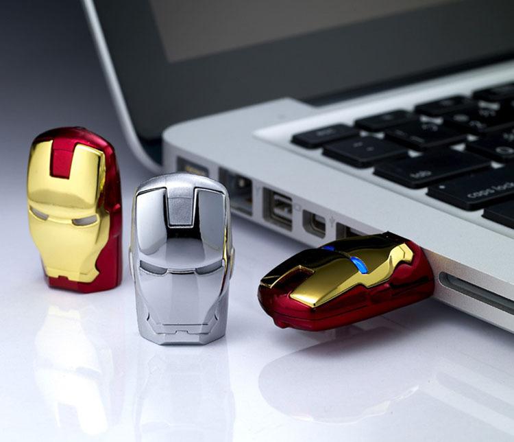 Wholesale - Free shipping 128GB thumb drive usb flash drive Plastic Marvel Iron man for B3J29PA g4-2218TX C9L86PA(China (Mainland))