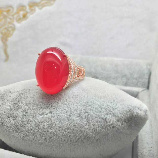 Fashion luxurious big natural red chalcedony ring 925 sterling silver natural gem stone ring women wedding fine ring jewelry<br><br>Aliexpress