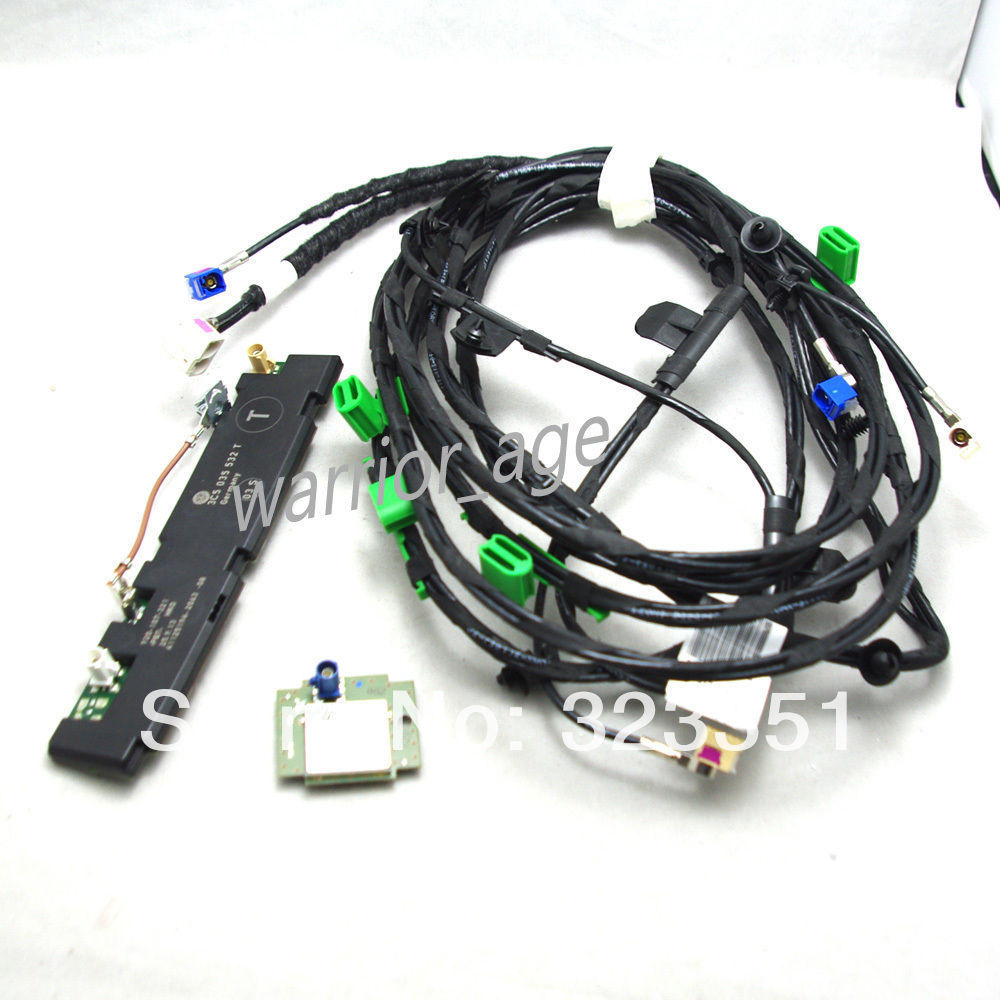 Oem Radio Booster Amplifier Gps Antenna Set Harness Cable Wiring 3c5035532t 3c5035534f For Rns510