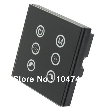 DHL Free Shipping Led touch dimmer,3channels led wall mount panel touch switch controller,high sensitive,DC12V-24V(China (Mainland))