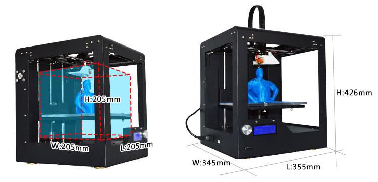 Clerance Sale! Lowest price 3D printer  DIY i3 , hot gift :free filament, material holder,print  ABS & PLA filament hot sale