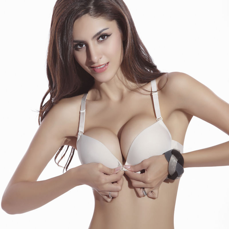 New Fashion Size Brassiere C Cup Front Closure Sexy Seamless Adjustable push up Bras Women Cotton
