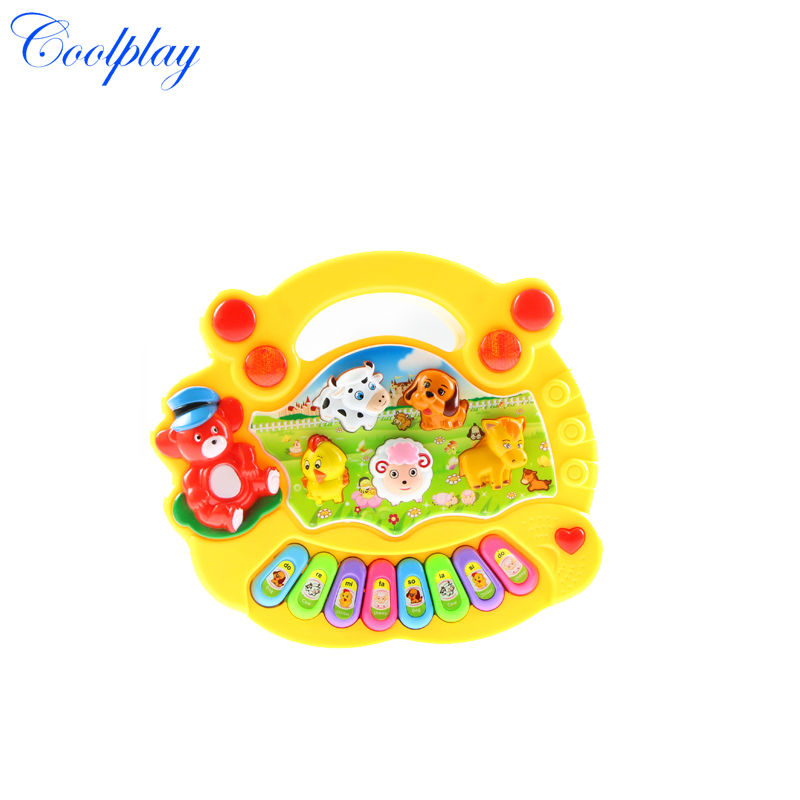 CP1331-1 Wholesale Baby Kid's Animal Farm Mobile Piano Smart Music Toy Electric ENGLISH Early /Xmas Gift(China (Mainland))