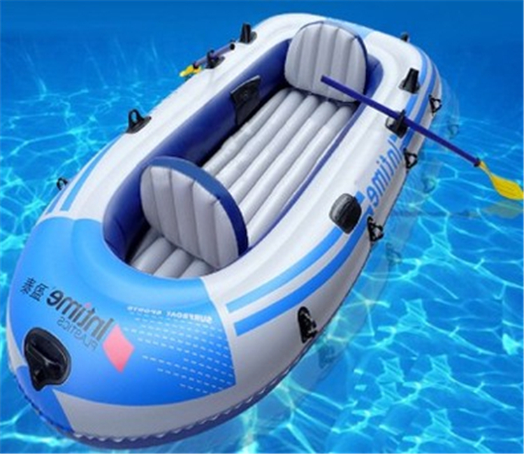 Kingtoy inflatable fishing boat, 4 person (3adult + 1 children), inflatable kayak boat for fishing pvc inflatabl(China (Mainland))