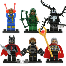 Wholesale 15Lots Decool Building Blocks Super Heroes Minifigures Batman Winter Soldier Odin Cyclops Green Arrow Bricks Figures