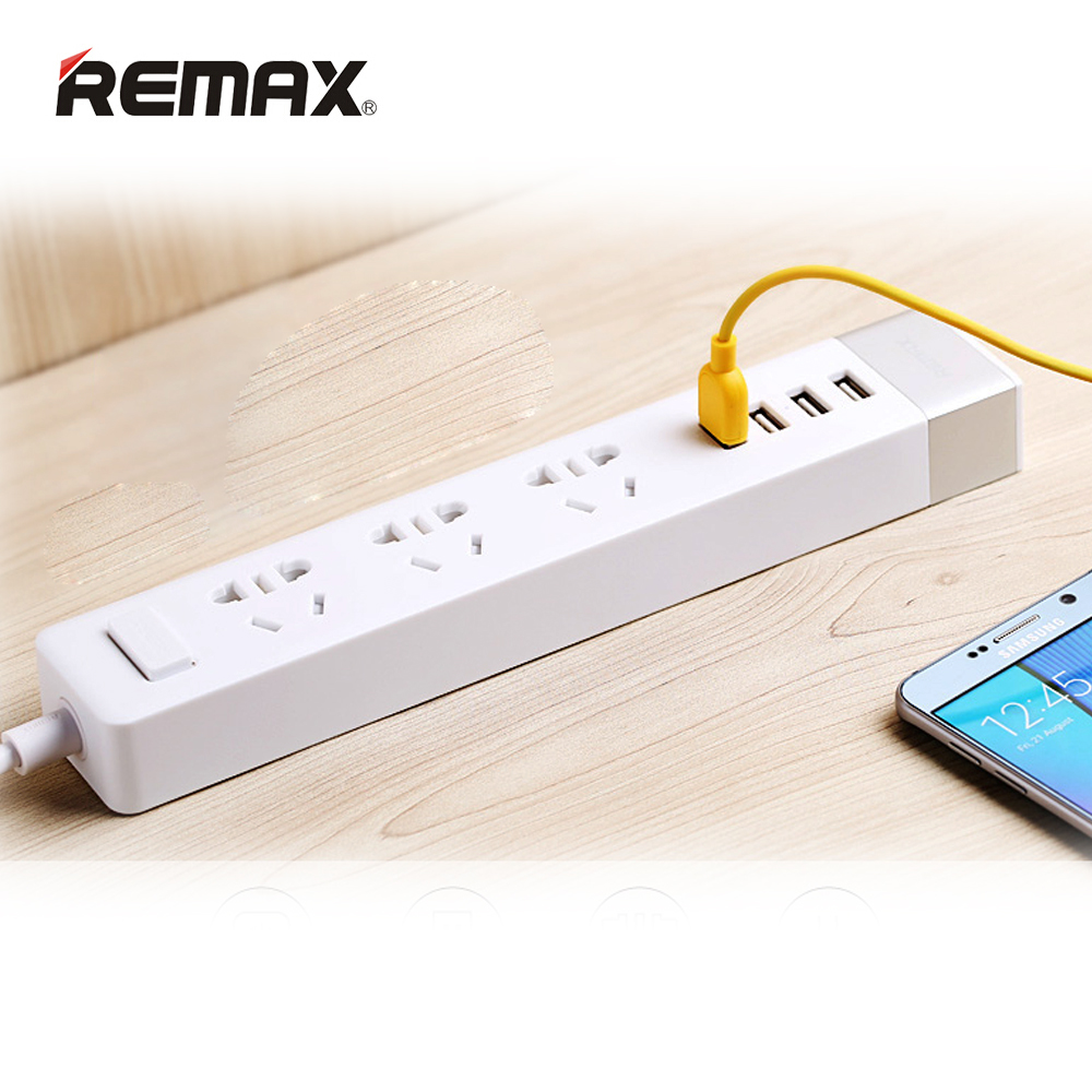 Remax Mobile Phone Charger Adapter Micro USB Universal Power Socket with USB Power Outlet Strip Desktop Charger for iPad Tablet(China (Mainland))