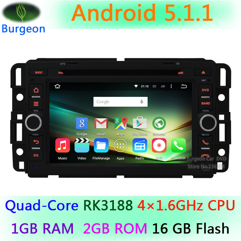 For Chevrolet Chevy Suburban Silverado Cobalt Buick Enclave Car DVD Player 1024X600 Android 5.1.1 Quad Core Radio GPS Navigation(China (Mainland))