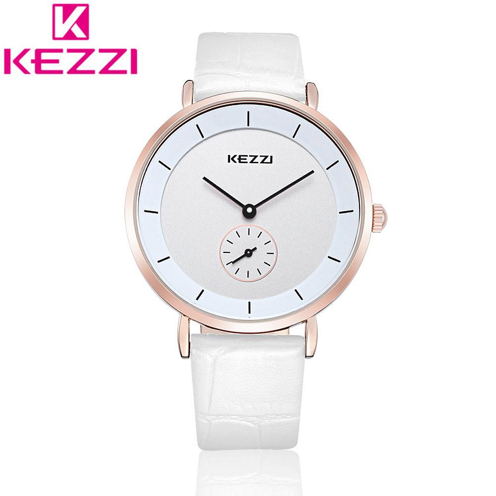 2016 KEZZI K1080 FashioonUnisex Wristwatches Leather Strap Lovers' Watch Individual Seconds Hand Watch Relogio Feminino KZ76(China (Mainland))
