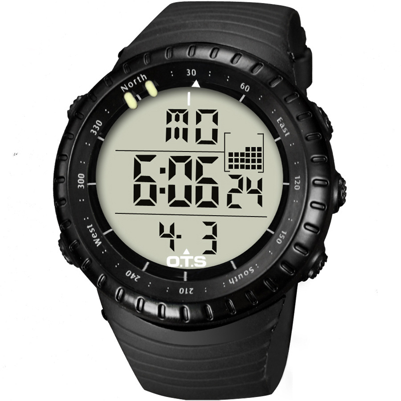OTS Digital Sport Men Watches 50M Professional Waterproof Quartz Hodinky Hours Military Luminous Wristwatches 2016 Fashion watch(China (Mainland))