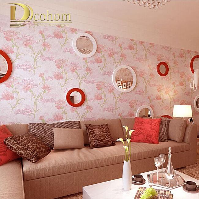 achetez en gros rose troupeau papier peint en ligne  u00e0 des