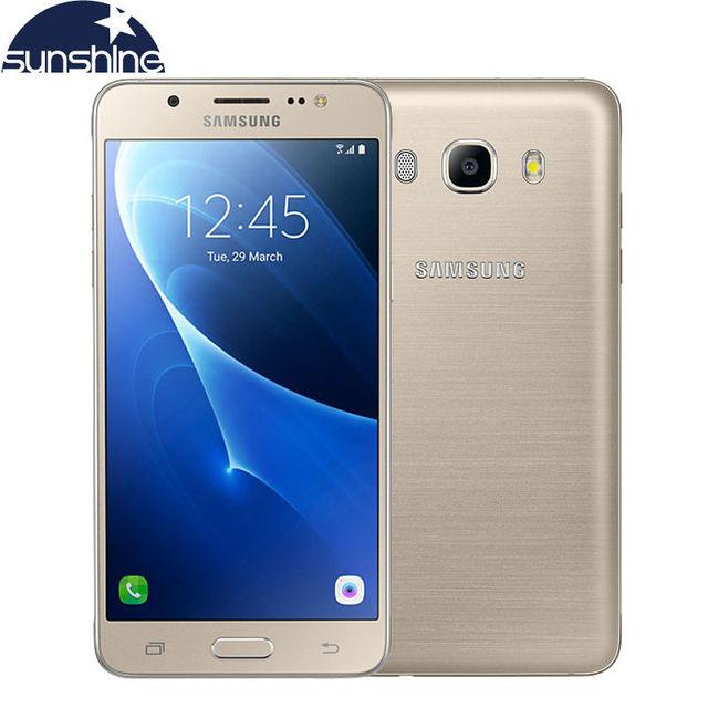 """Оригинальный Samsung Galaxy J5 J5108 4 Г LTE Мобильный телефон Snapdragon 410 Quad Core Dual SIM Смартфон 5.2 """"13.0MP NFC мобильный телефон"""