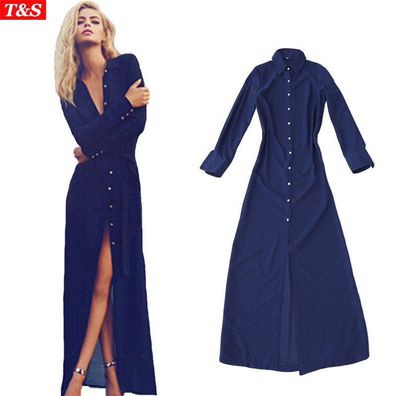 Dress candle picture more detailed picture about new Women s long sleeve shirt dress