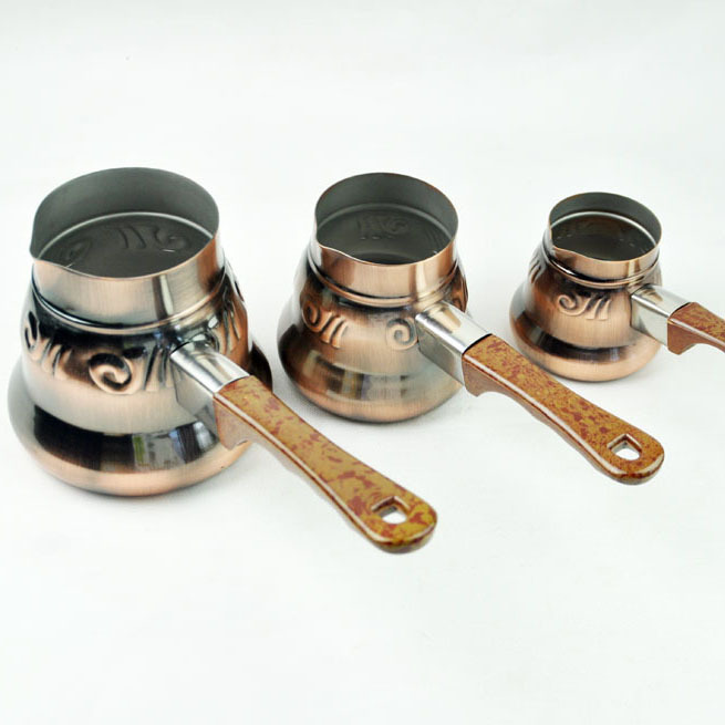 beng Turkish coffee pot Turkish New elegant brass pot three sets of handmade Turkish coffee pot